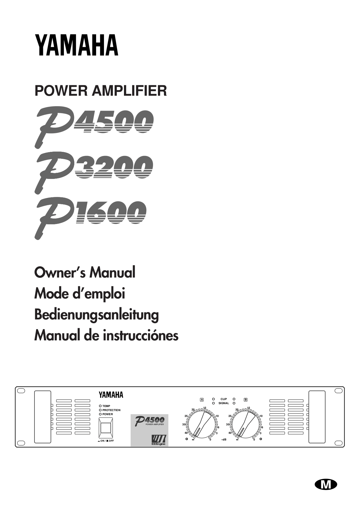 Download free pdf for Yamaha P4500 Amp manual