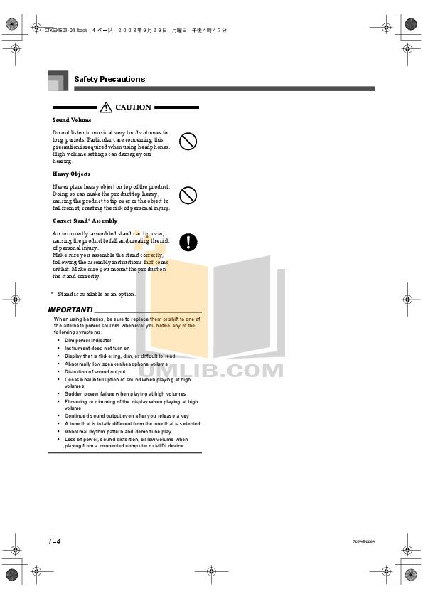 PDF manual for Casio Music Keyboard CTK-451