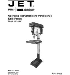 pdf for jet other jdp 20mf drill press manual [ 1275 x 1651 Pixel ]
