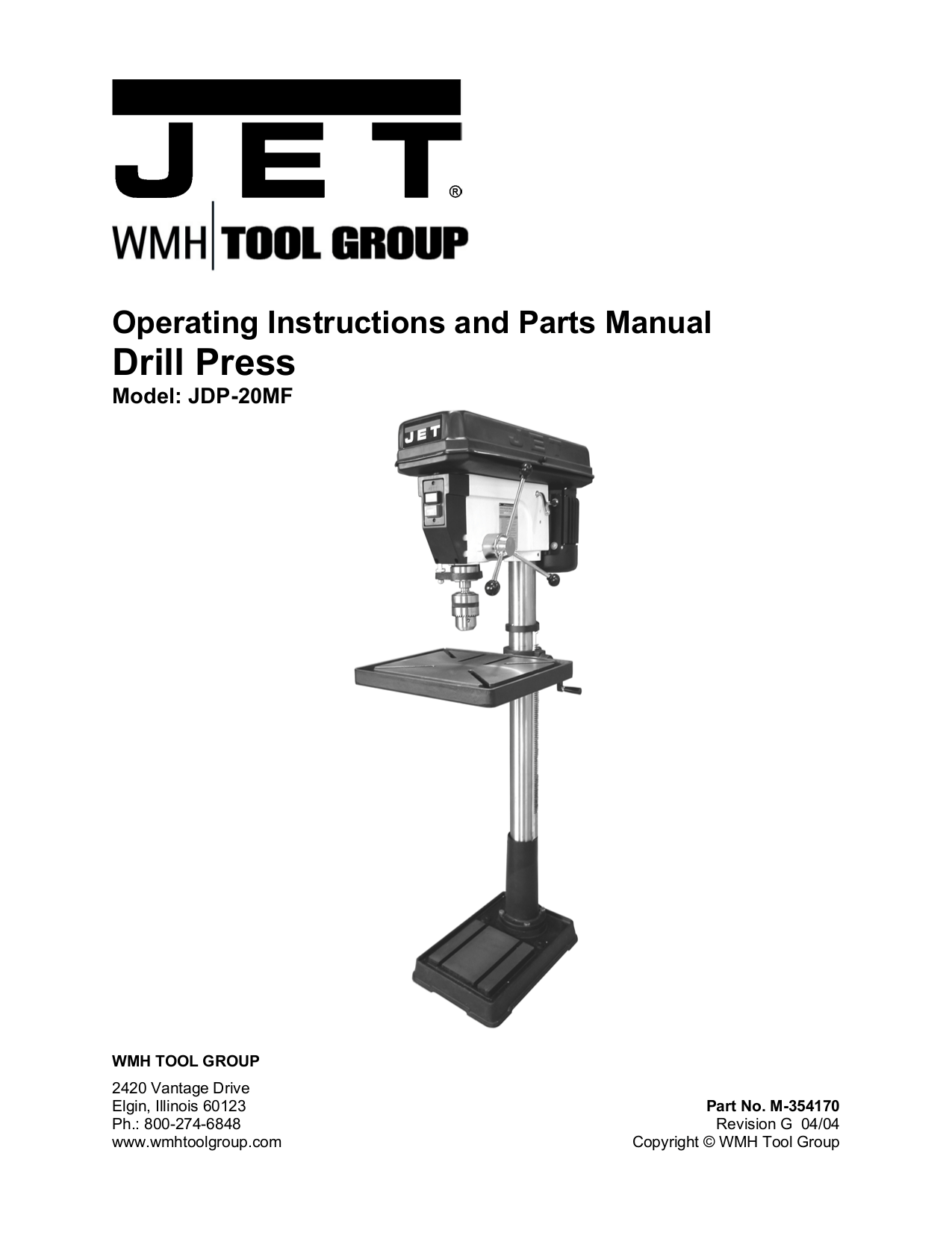 hight resolution of pdf for jet other jdp 20mf drill press manual
