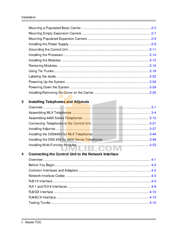 PDF manual for Avaya Telephone Merlin Legend MLX-16DP