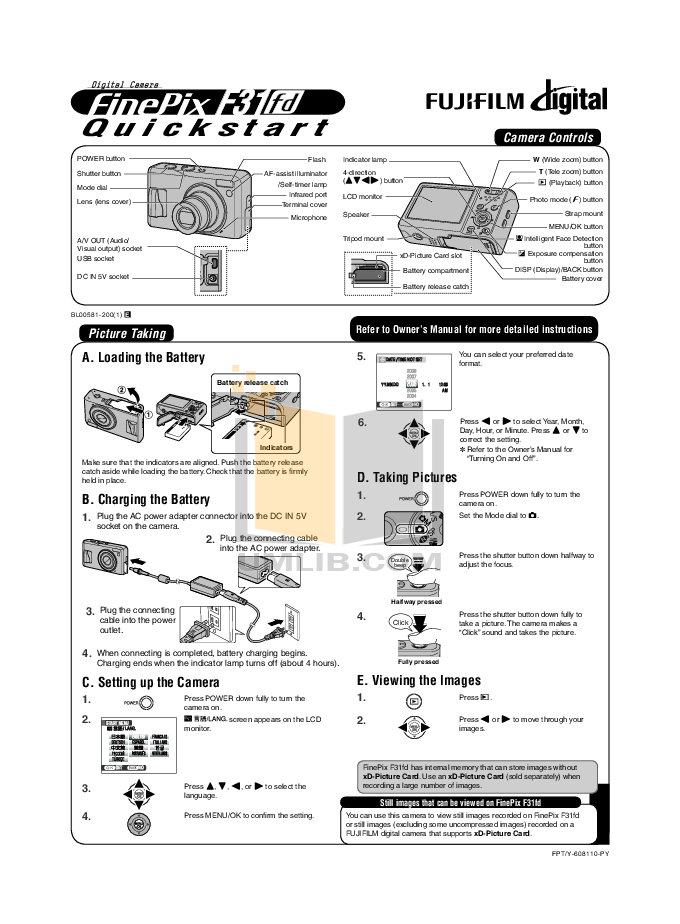 Download free pdf for FujiFilm Finepix F31fd Digital