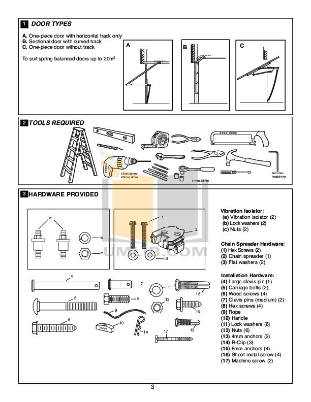 PDF manual for Chamberlain Other 3000 Garage Door Openers