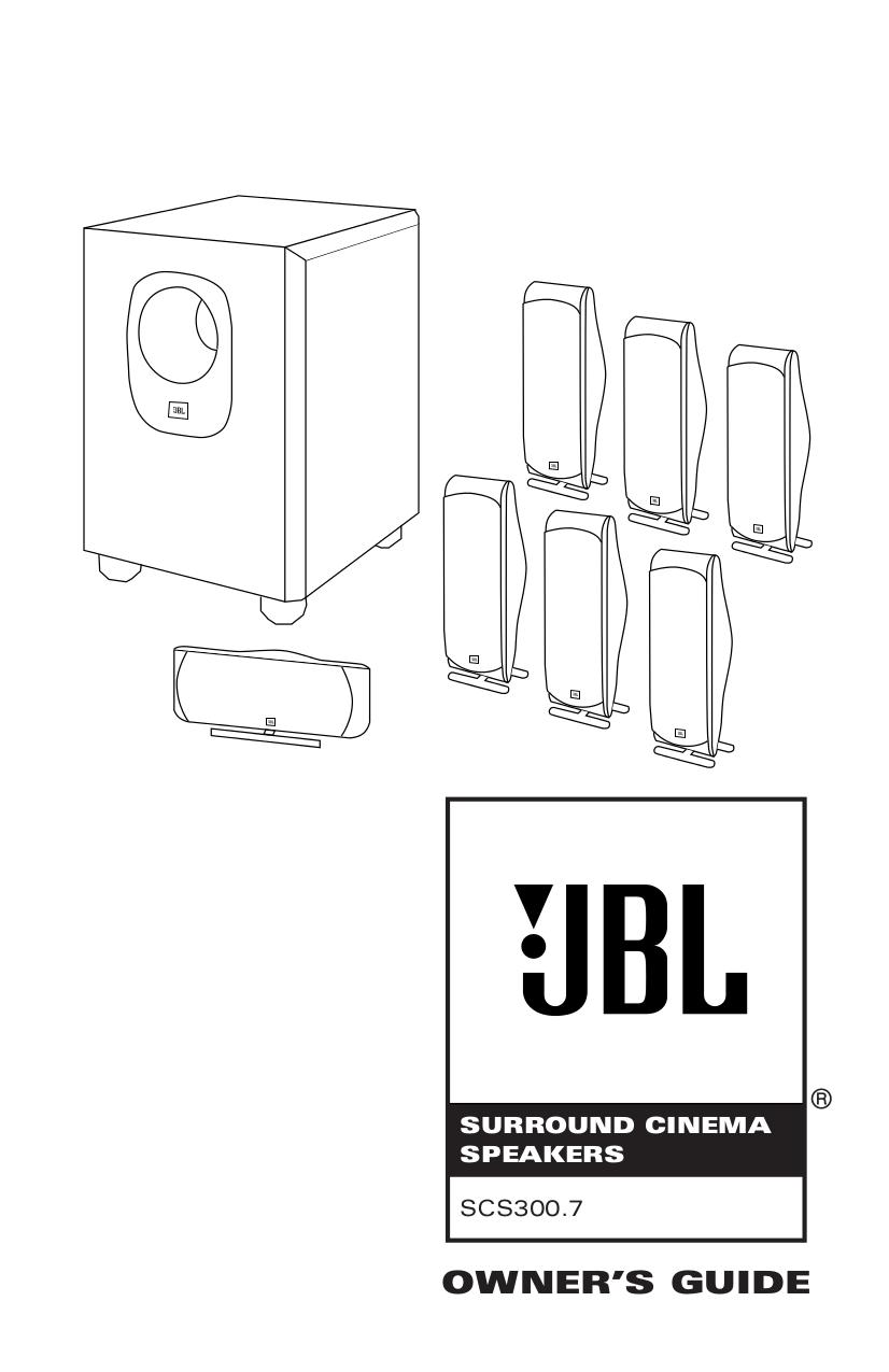 Download free pdf for JBL SCS SAT 300 Speaker manual