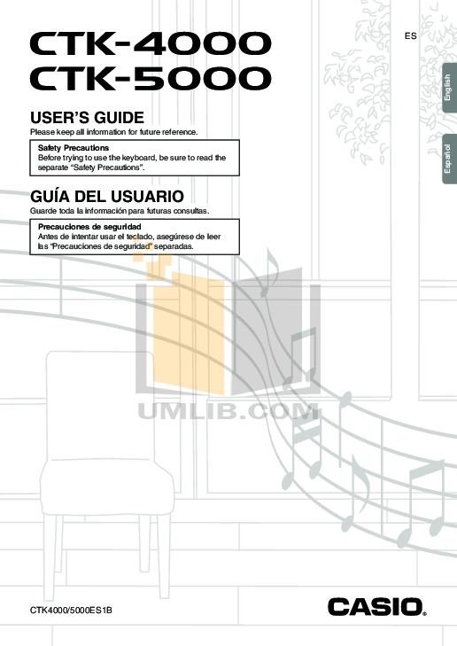 Download free pdf for Casio CTK-671 Music Keyboard manual