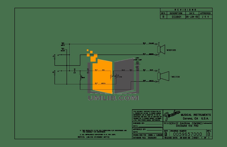 PDF manual for Fender Amp Bassman Bassman 100