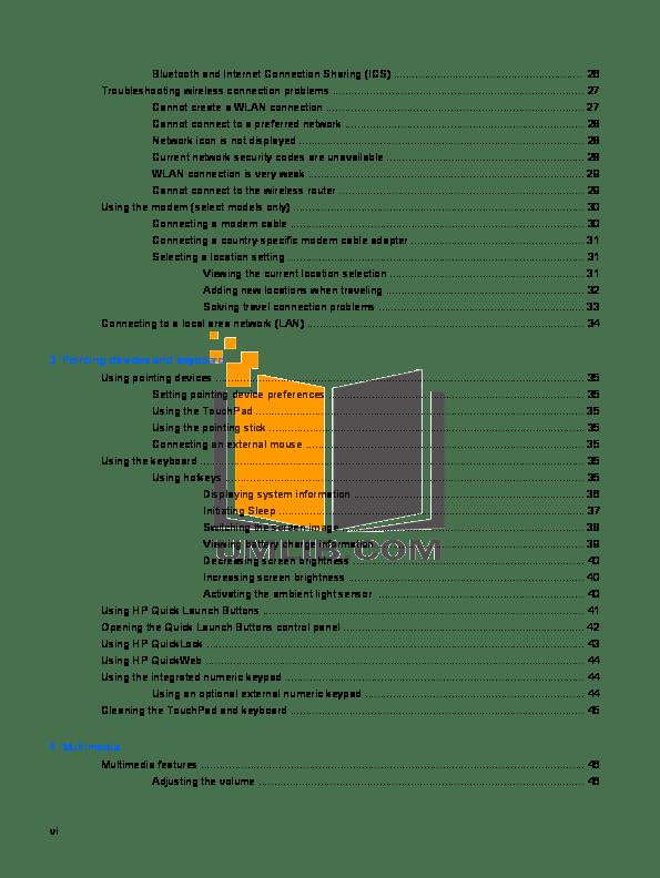 PDF manual for HP Laptop EliteBook 8760w