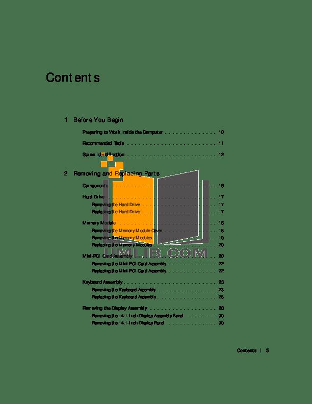 PDF manual for Dell Laptop Latitude C600