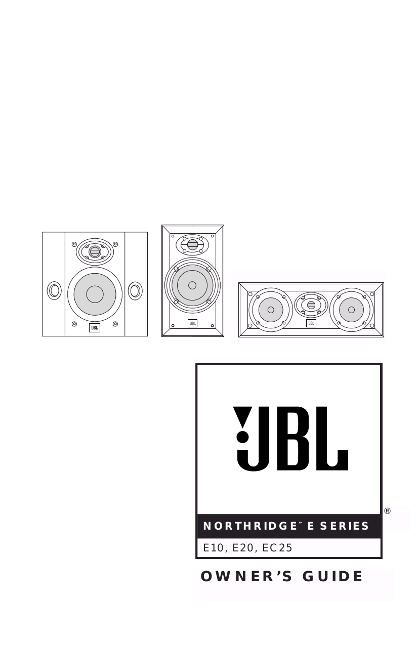 Download free pdf for JBL Northridge Series N26 Speaker manual