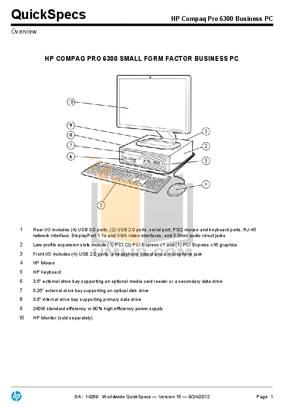 PDF manual for HP Desktop Compaq Elite 8100 CMT