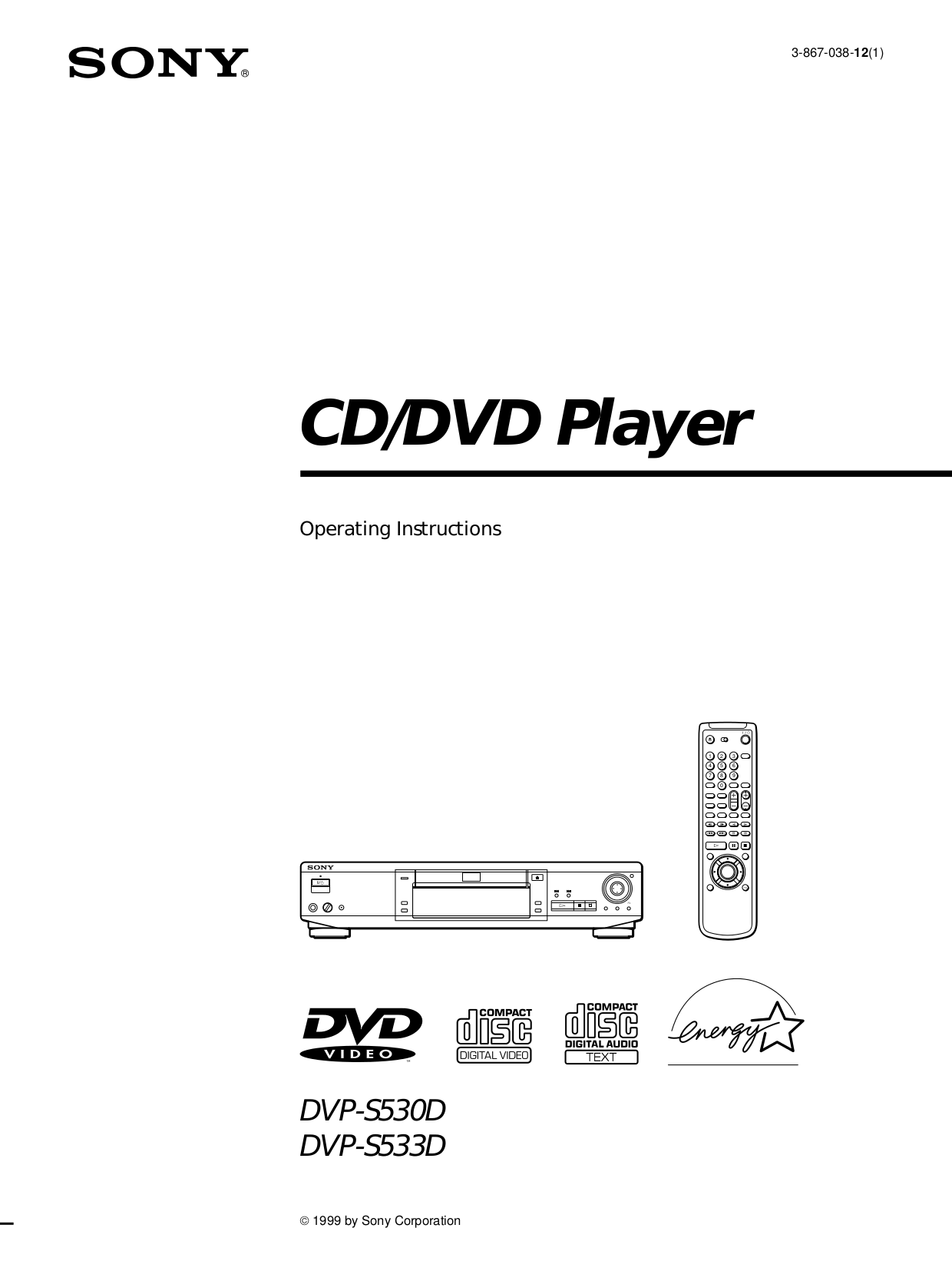 Download free pdf for Sony DVP-S530D DVD Players manual