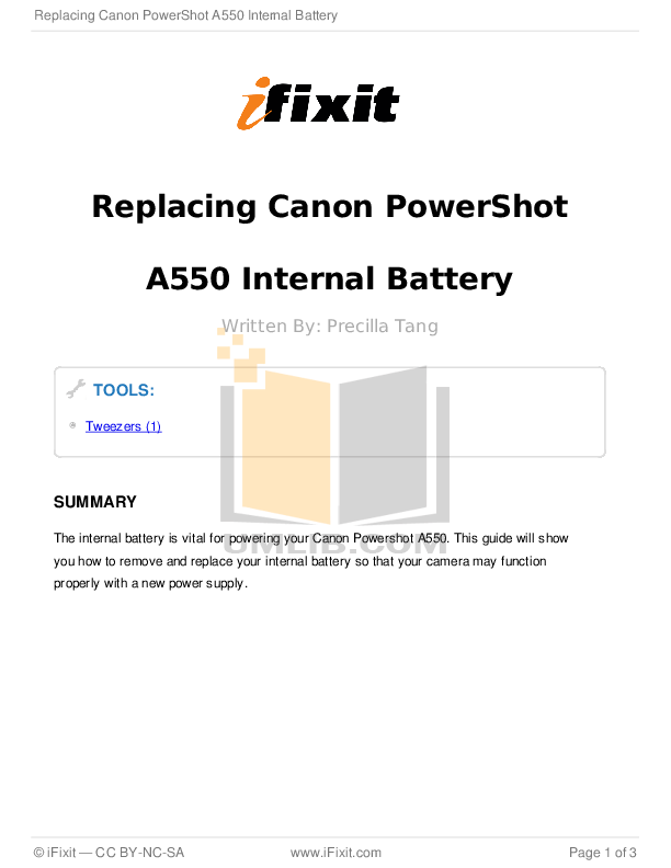 Download free pdf for Canon Powershot A550 Digital Camera