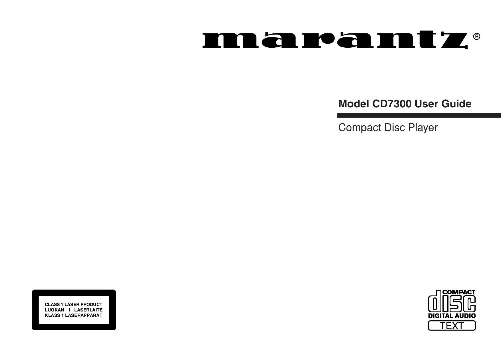 Download free pdf for Marantz SA8260 Audio-ComponentSystem