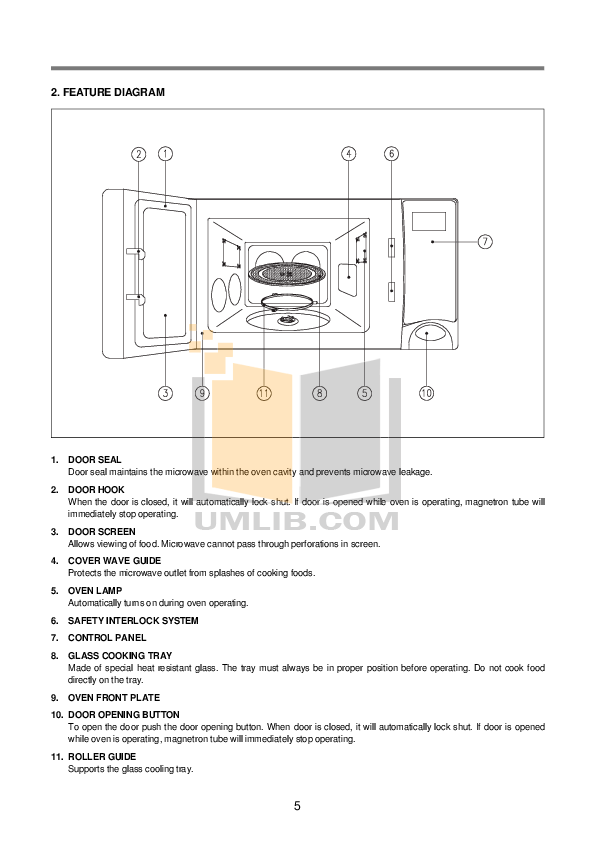 PDF manual for Daewoo Microwave KOR-630A