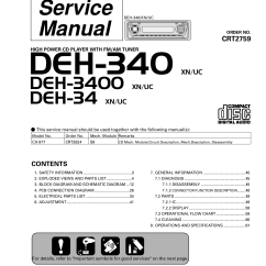 Pioneer Deh P4200ub Wiring Diagram 2 700r4 Lockup Kit Download Free Pdf For 340 Car Receiver Manual