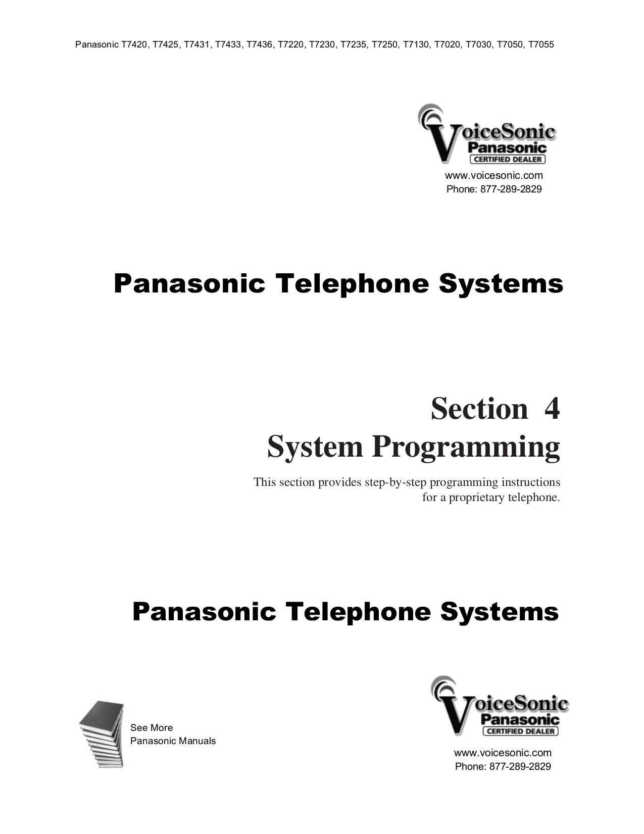Download free pdf for Panasonic KX-T7433 Telephone manual