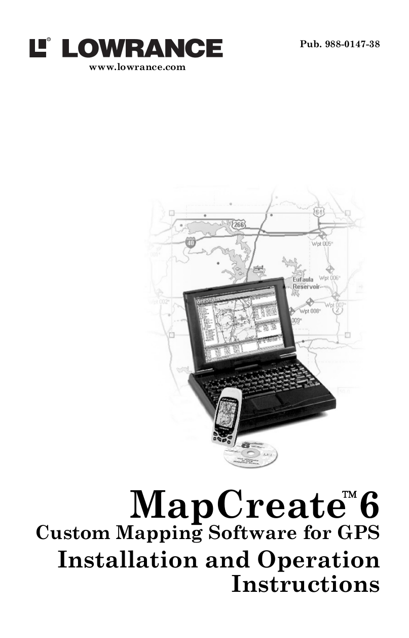 Download free pdf for Lowrance MapCreate 6 Software Other