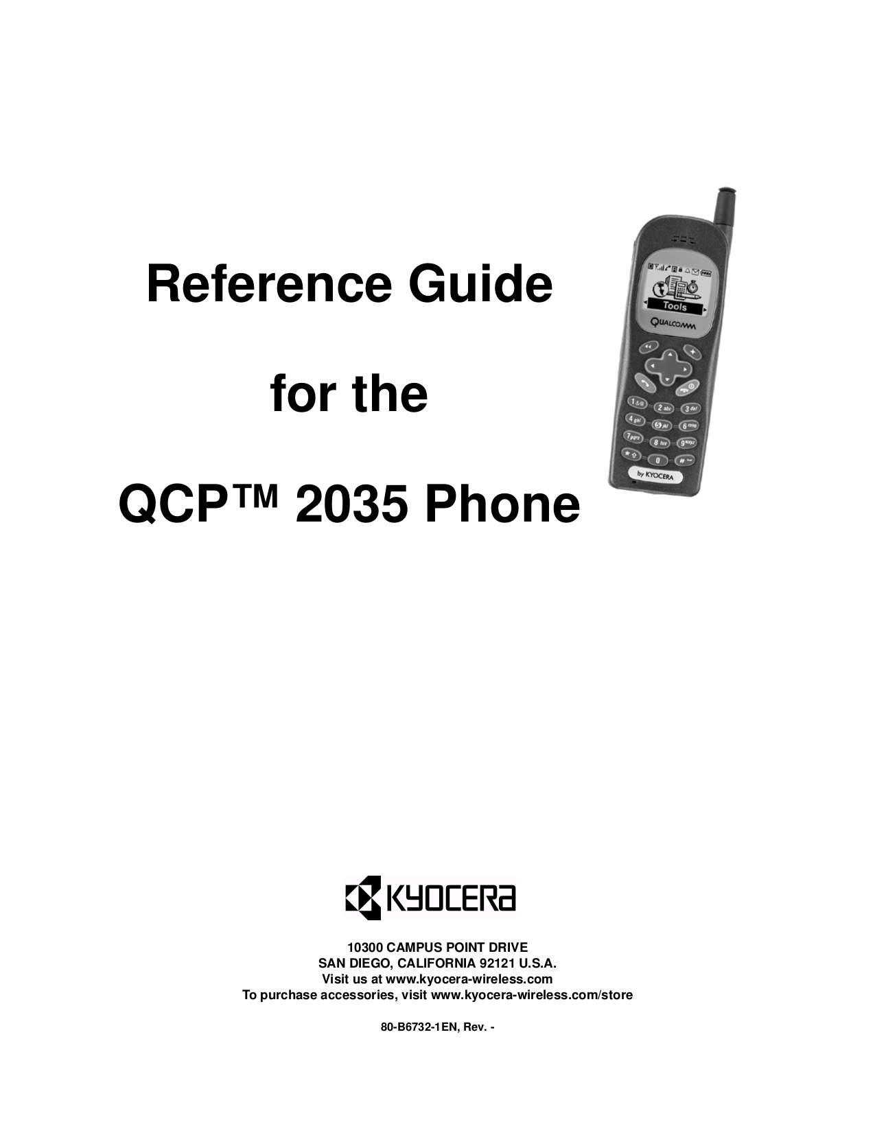 Download free pdf for Kyocera QCP 2035 Cell Phone manual