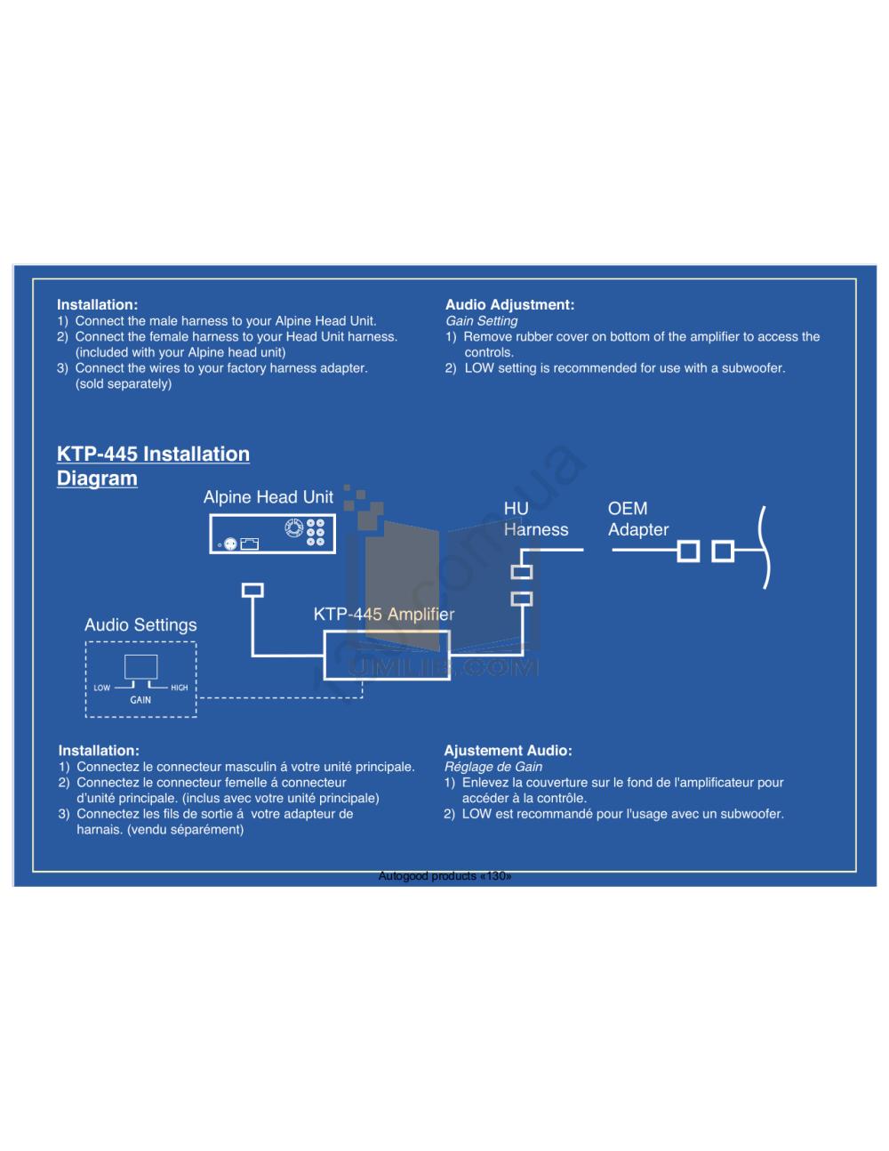 medium resolution of  alpine car amplifier ktp 445 pdf page preview