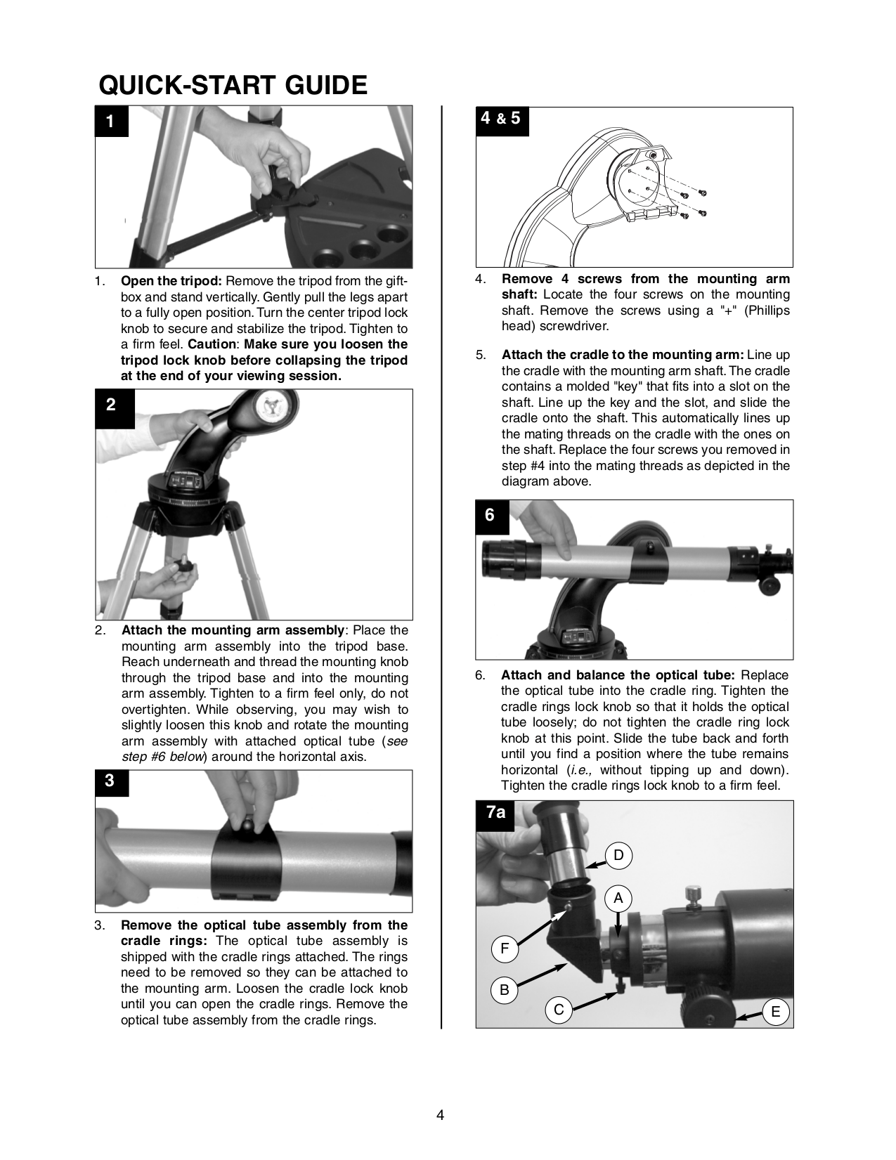 PDF manual for Meade Telescope DS-2102