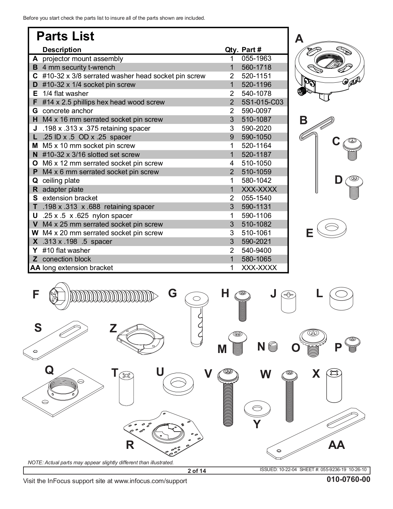 PDF manual for InFocus Projector IN35W