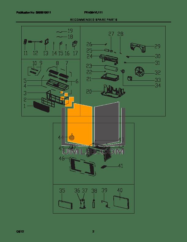 PDF manual for Frigidaire Air Conditioner FRA064VU1