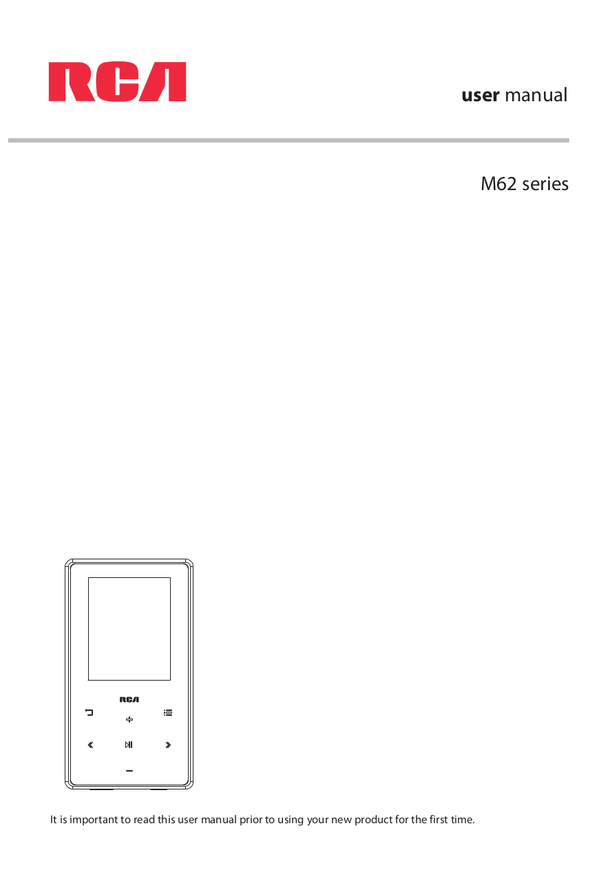Download free pdf for RCA M6204 MP3 Player manual