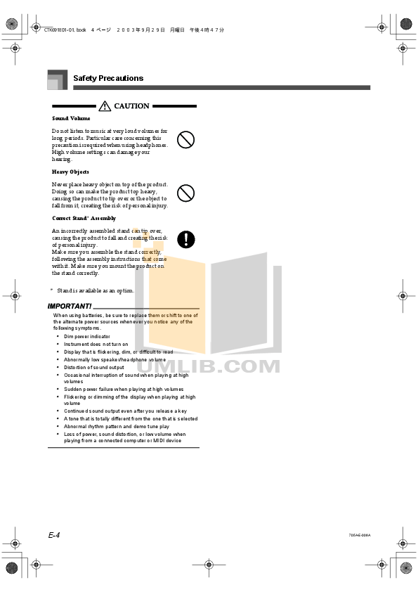 PDF manual for Casio Music Keyboard CTK-691
