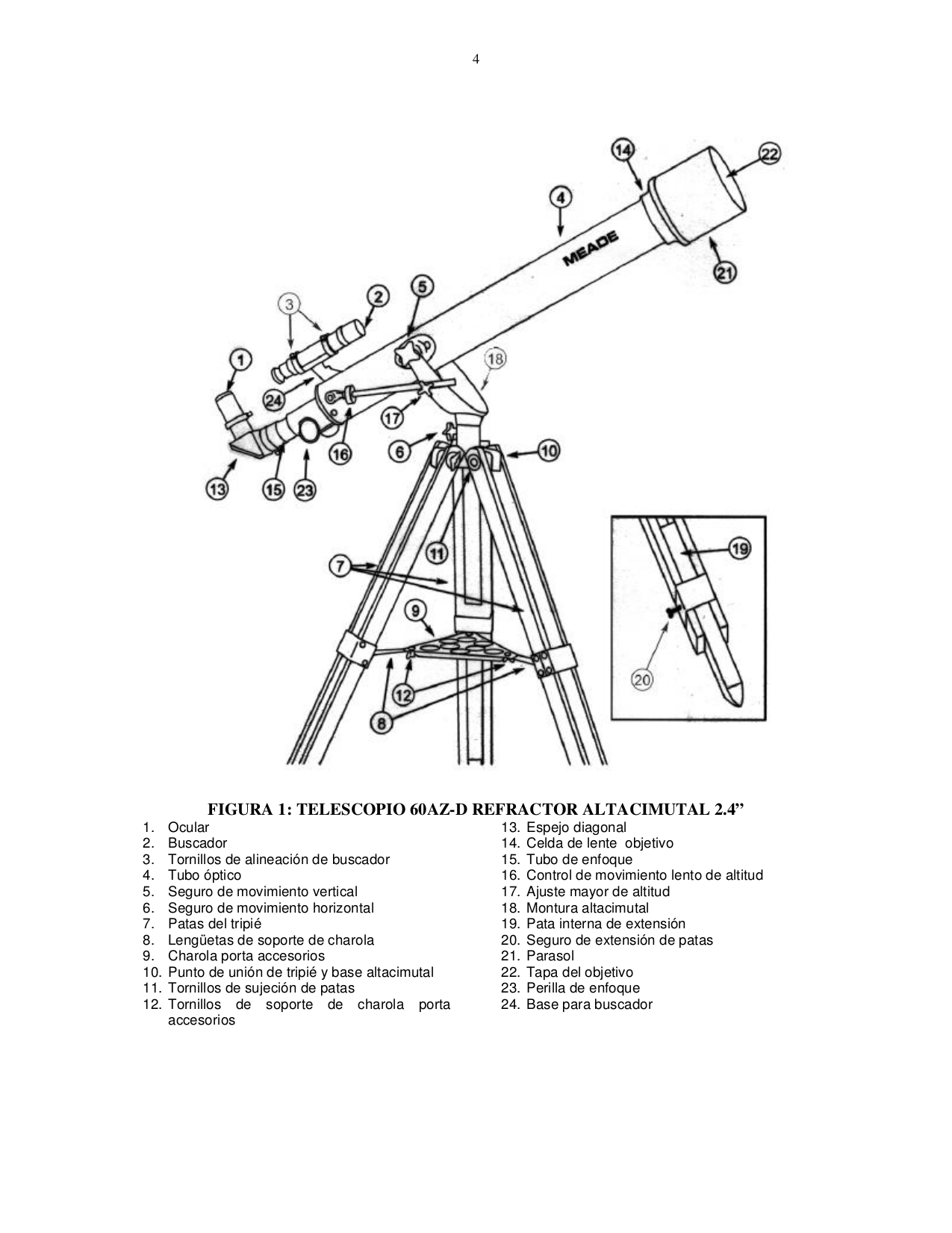 Manual For Meade Telescope Polaris 60az D