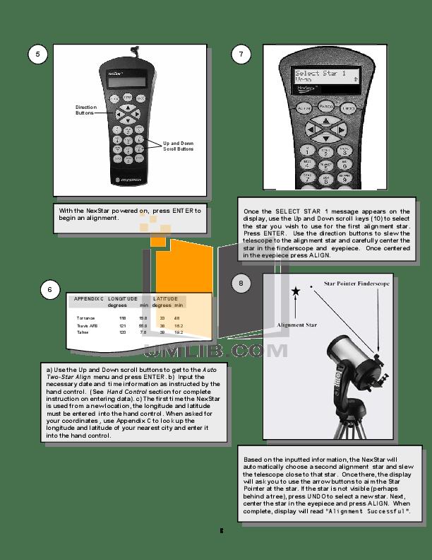 PDF manual for Celestron Telescope NexStar 8SE