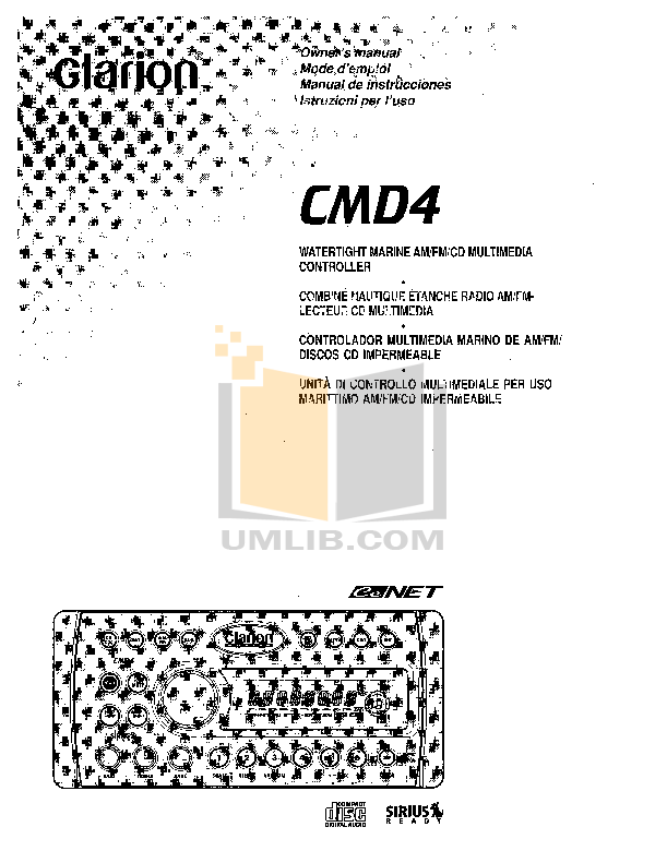 Download free pdf for Clarion CMD4 Marine Receivers Other