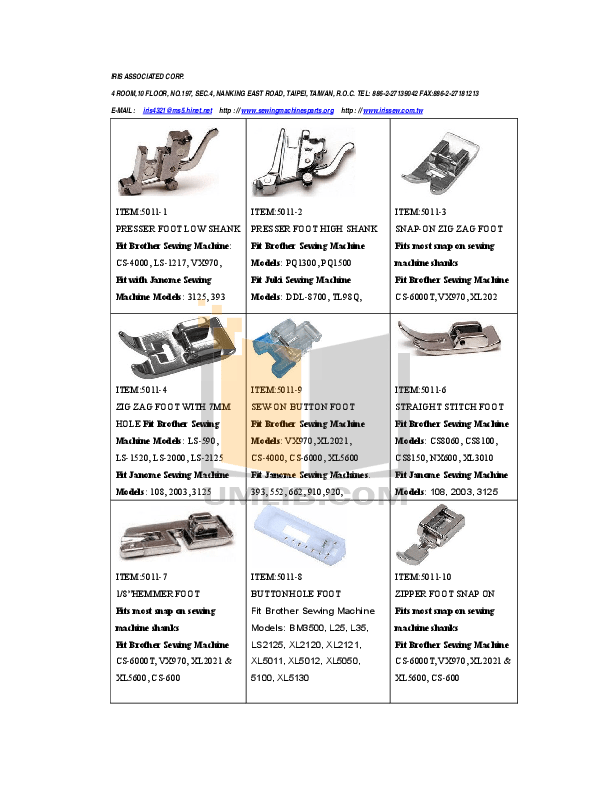 Download free pdf for Brother XR-37 Sewing Machines Other
