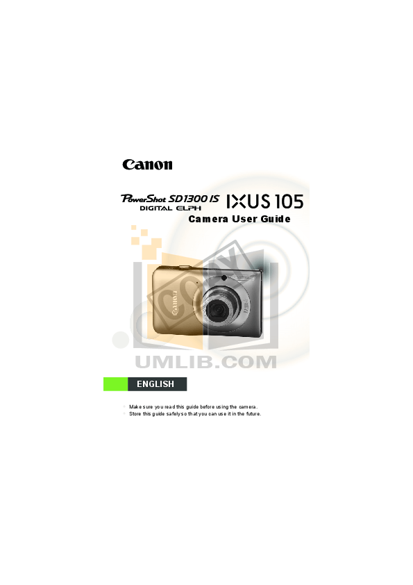 Download free pdf for Canon Powershot SD1300 IS Digital