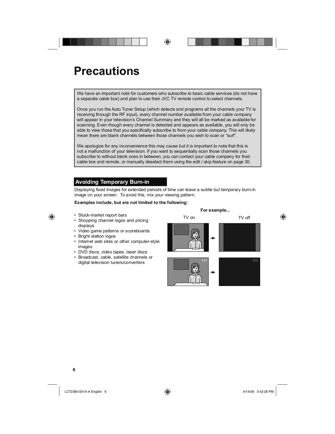 PDF manual for JVC TV AV-36D201