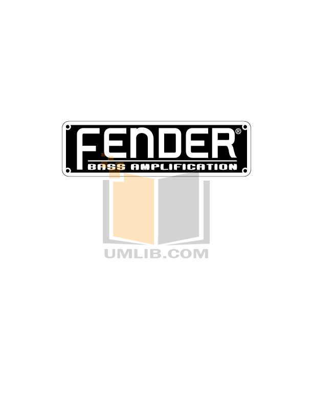 Download free pdf for Fender Rumble 100 Amp manual