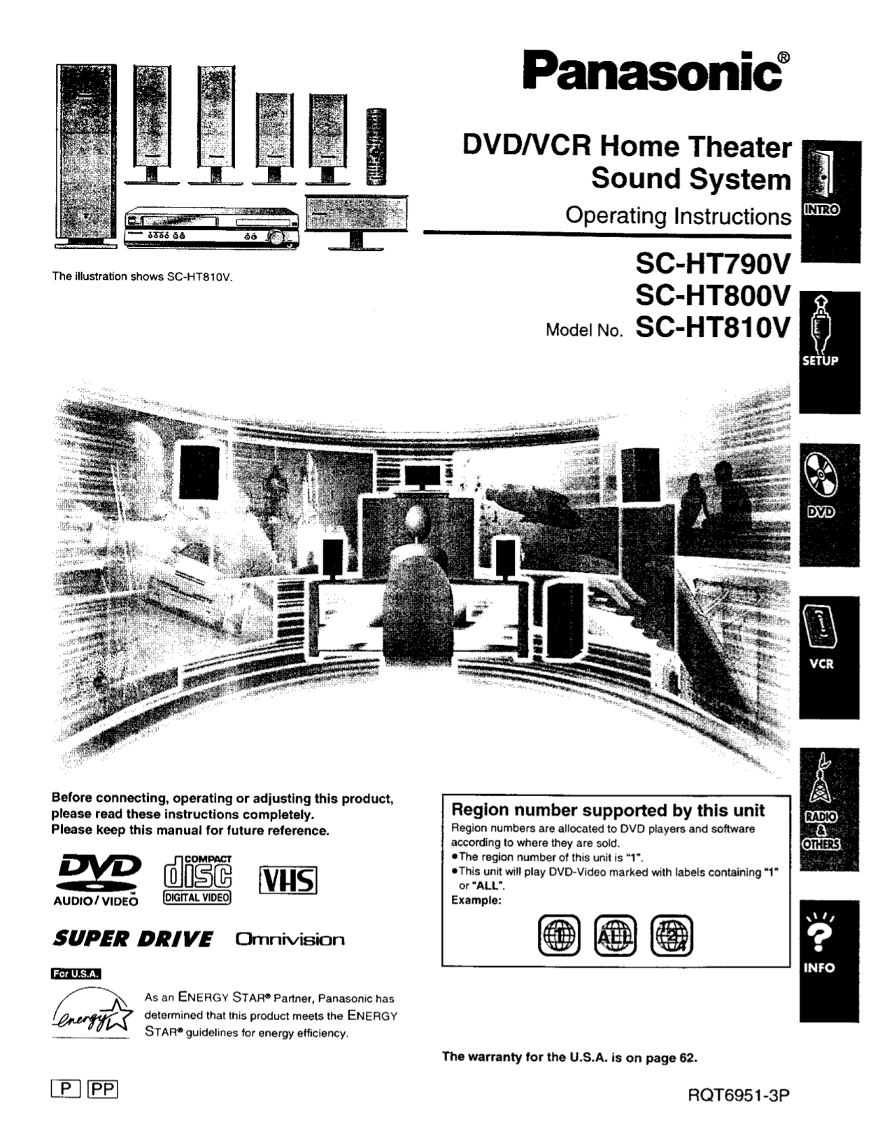 Download free pdf for Panasonic SA-HT810 Home Theater manual