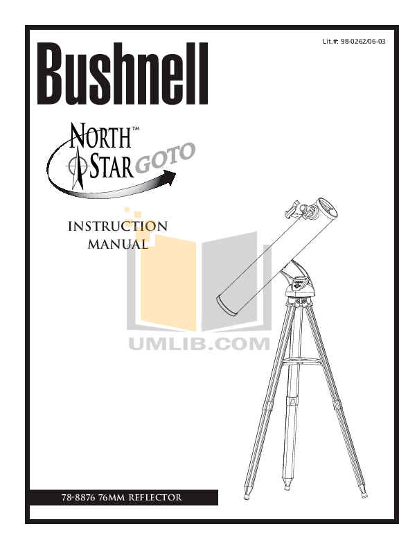 Download free pdf for Bushnell Northstar 78-8876 Telescope