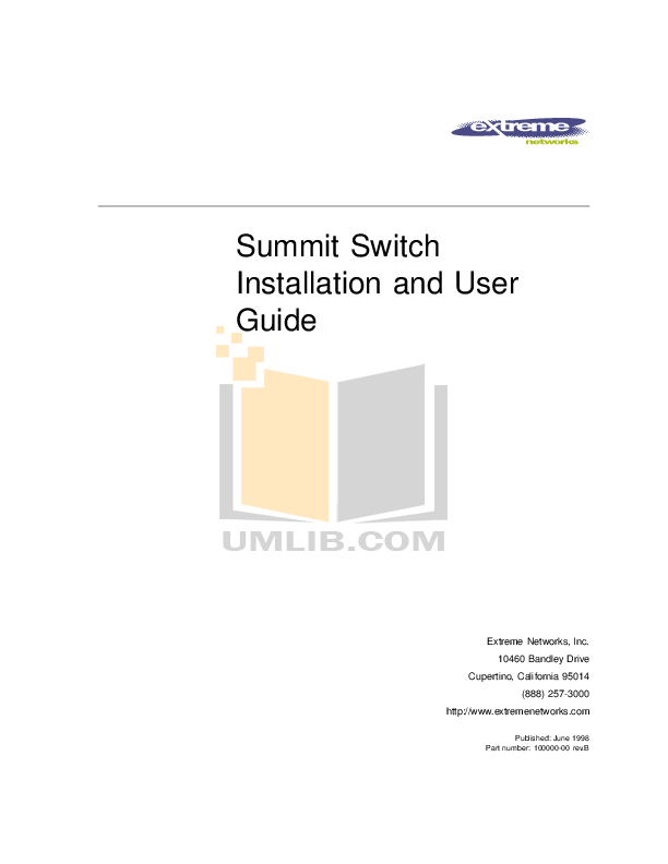 Download free pdf for Extreme Summit Summit48 Switch manual