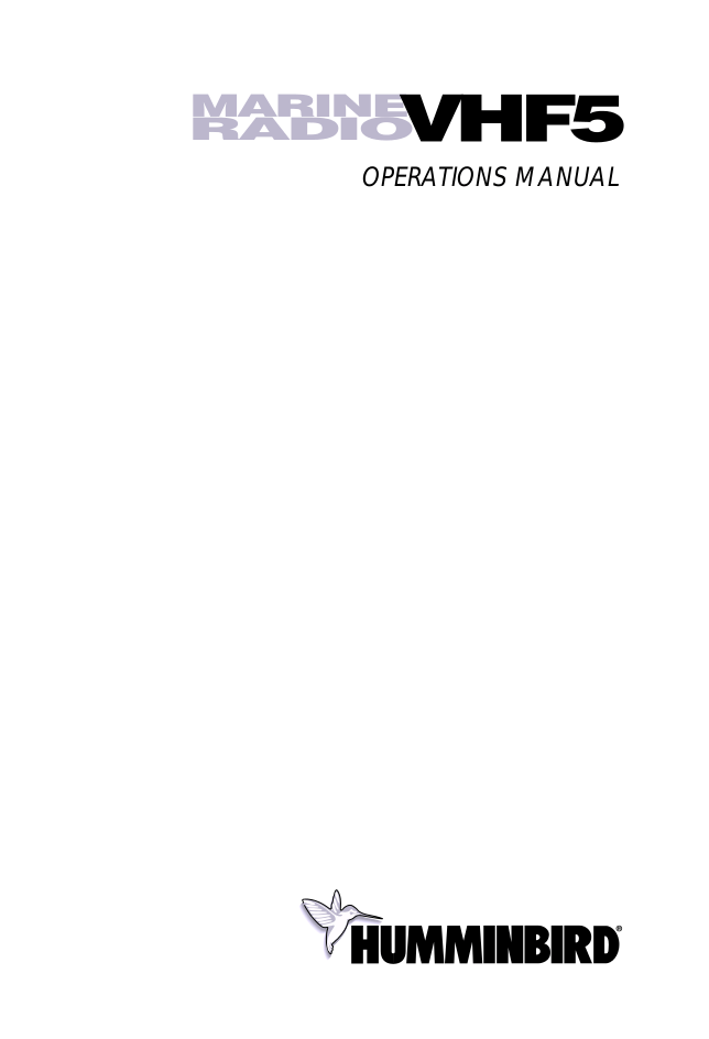 Download free pdf for Humminbird VHF5 Marine Radio Marine