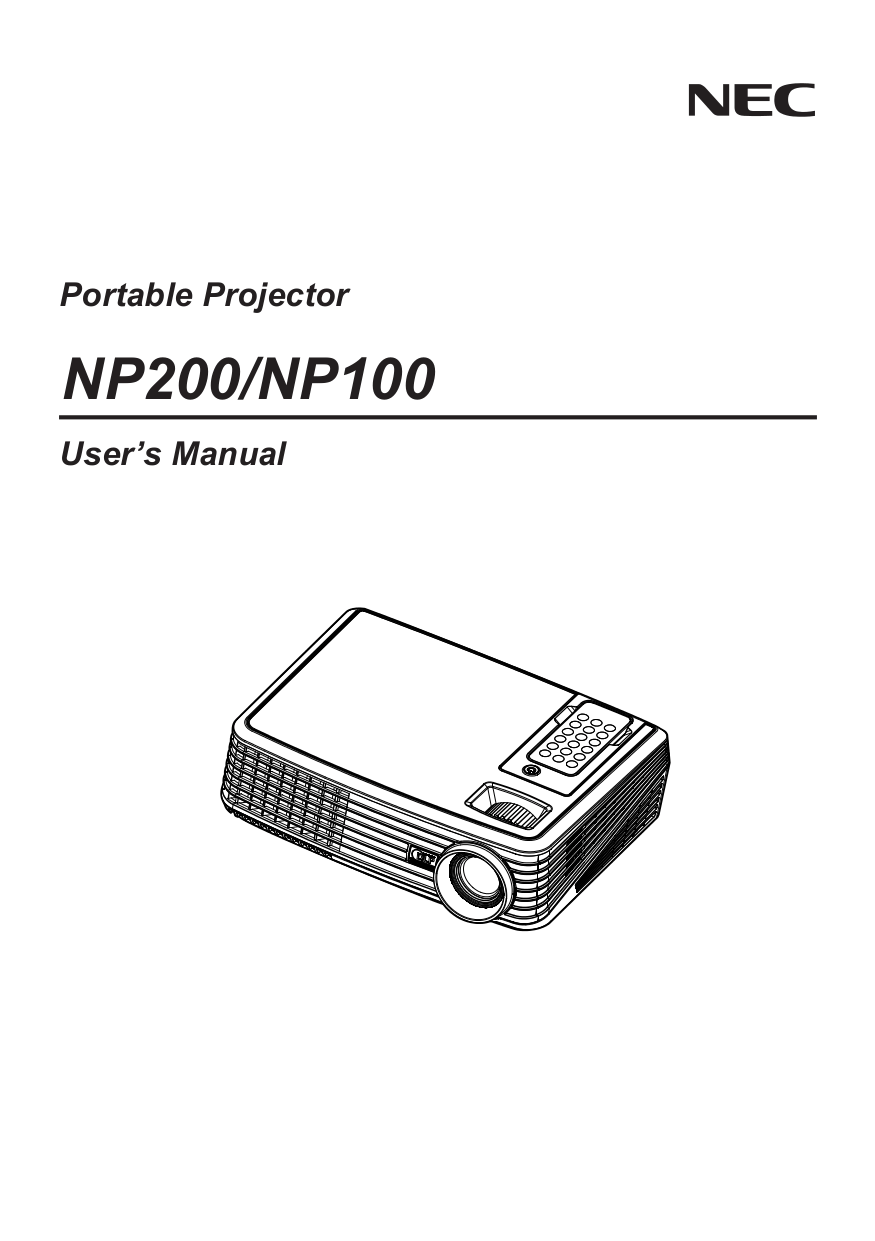 Download free pdf for NEC NP100 Projector manual