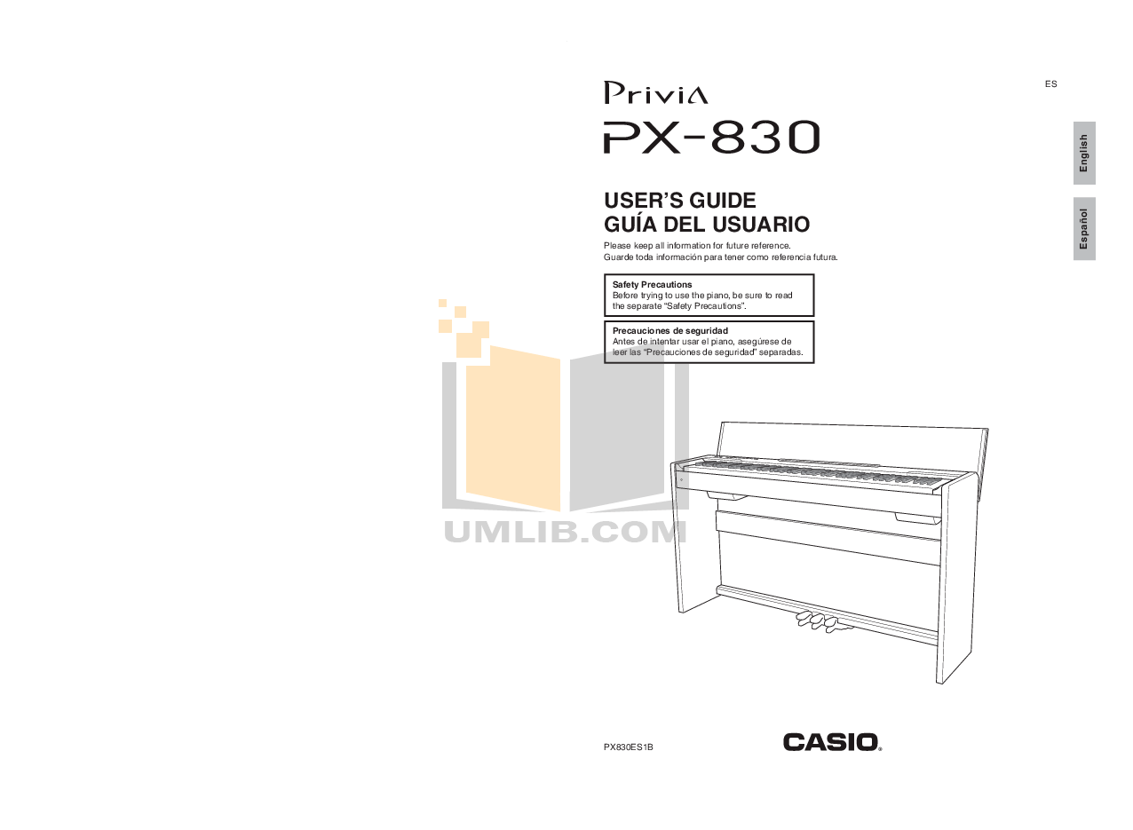 Download free pdf for Casio PX-830 Music Keyboard manual