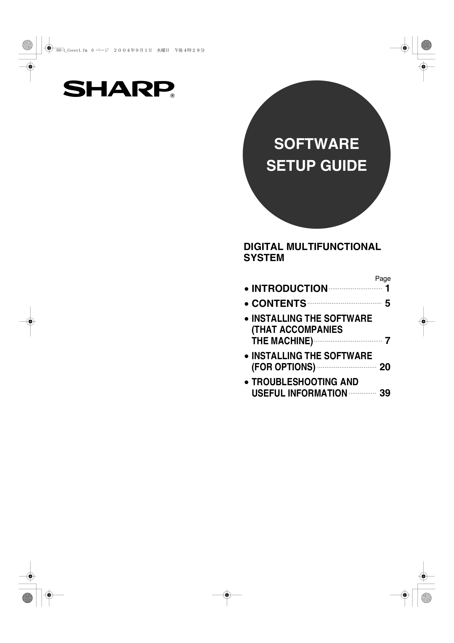 Download free pdf for Sharp AR-207 Copier manual