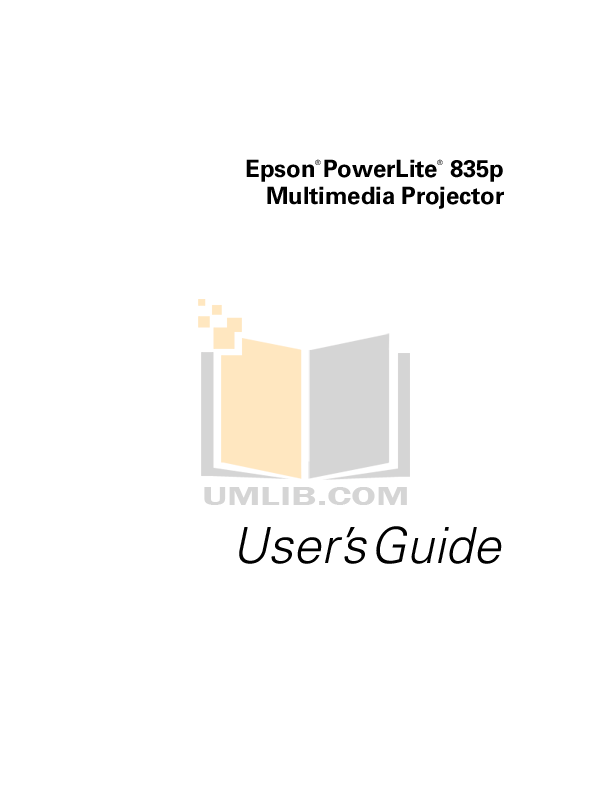 Download free pdf for Epson EMP-835 Projector manual