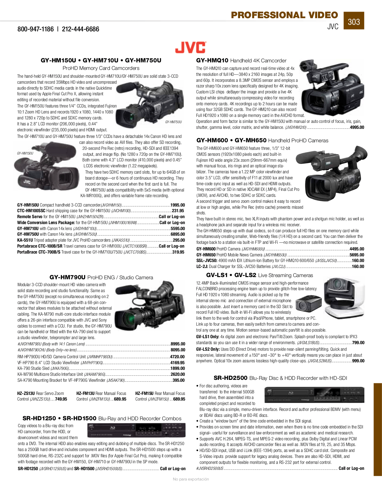 PDF manual for Panasonic Camcorders AG-DP800