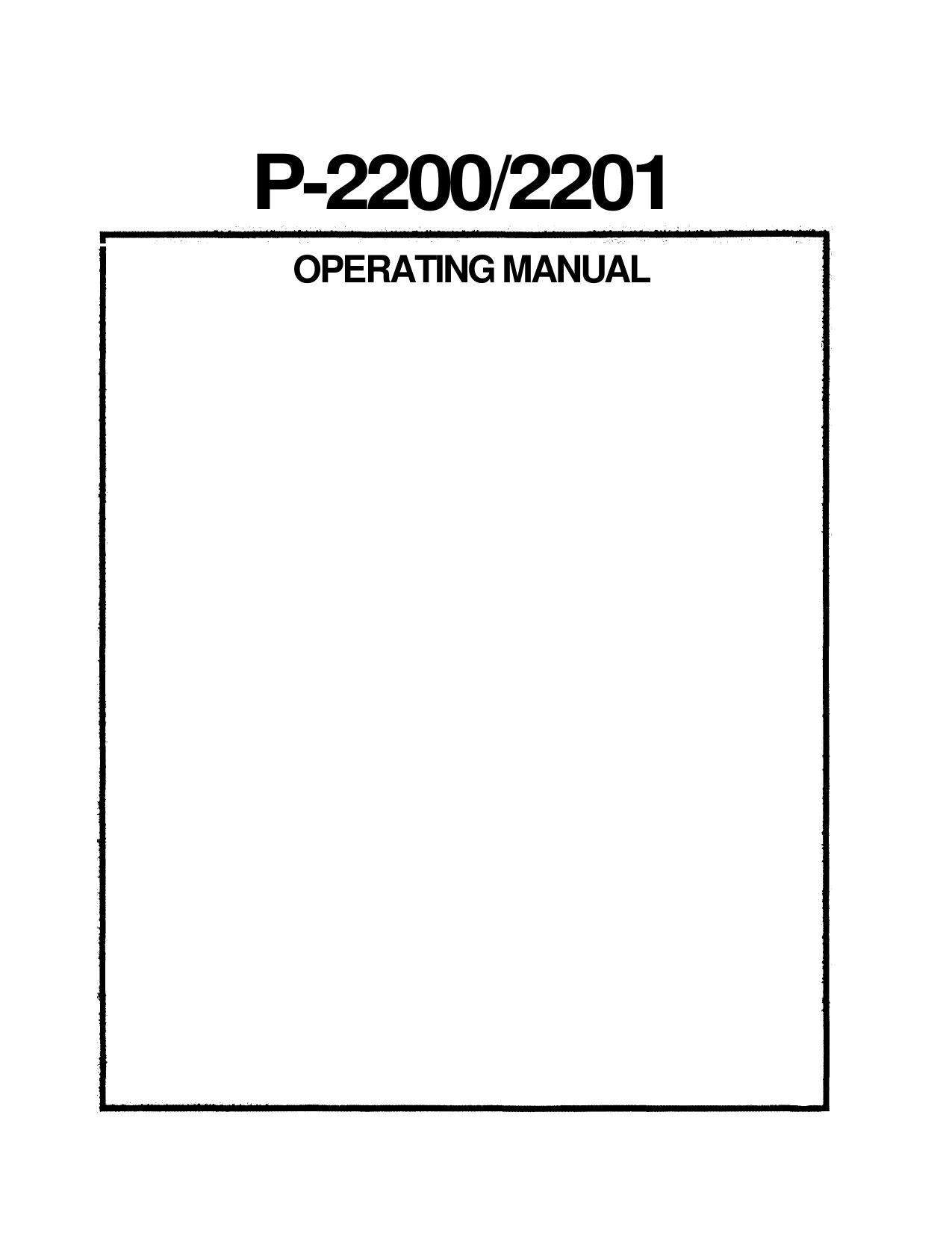 PDF manual for Yamaha Amp P2200