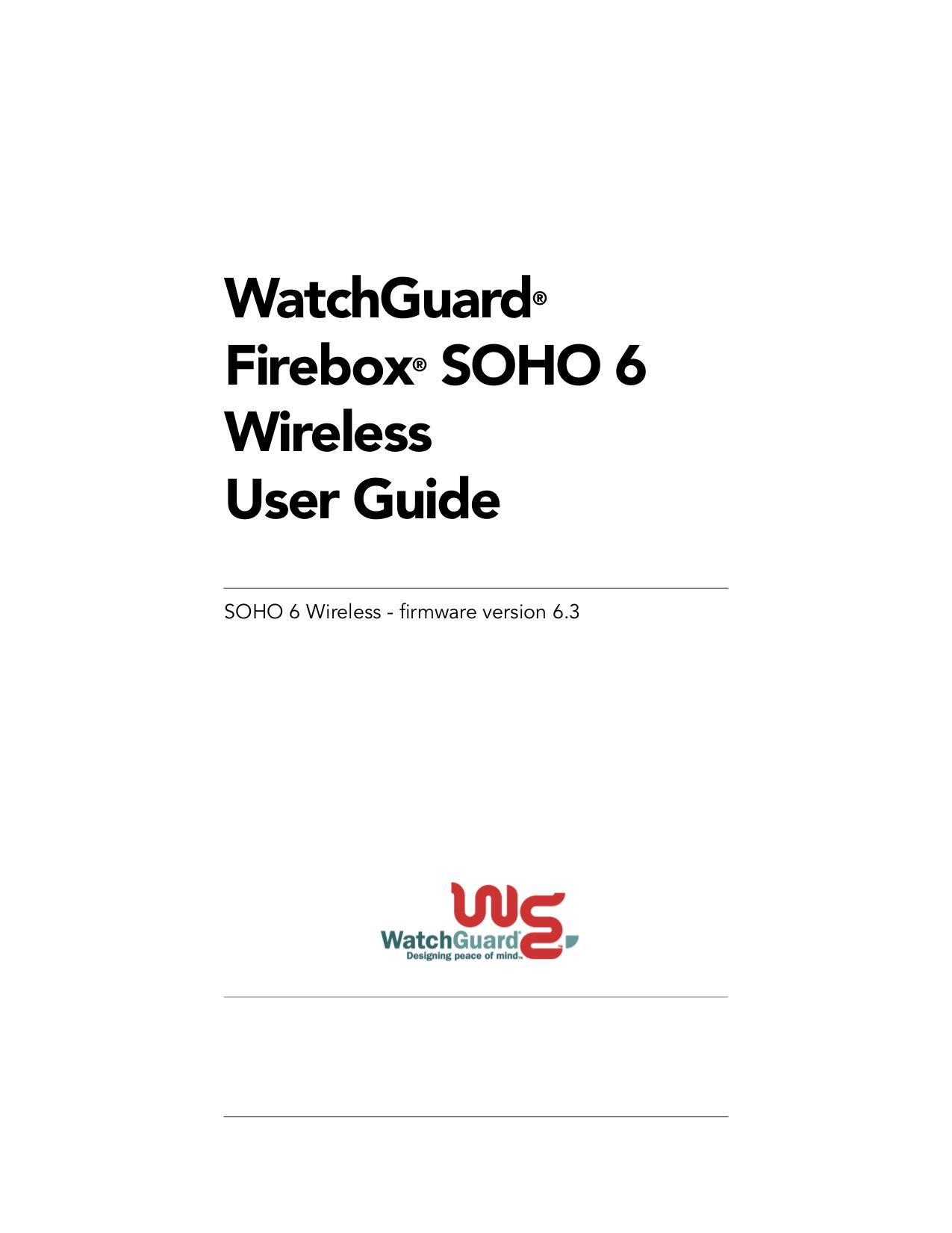 Download free pdf for Watchguard Firebox SOHO Firewall