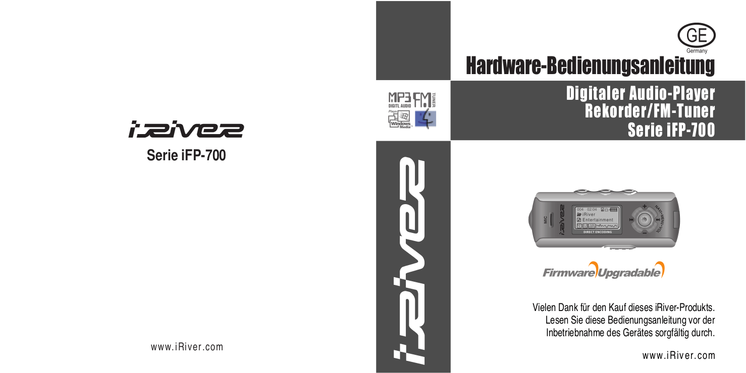 Download free pdf for iRiver iFP-795 MP3 Player manual