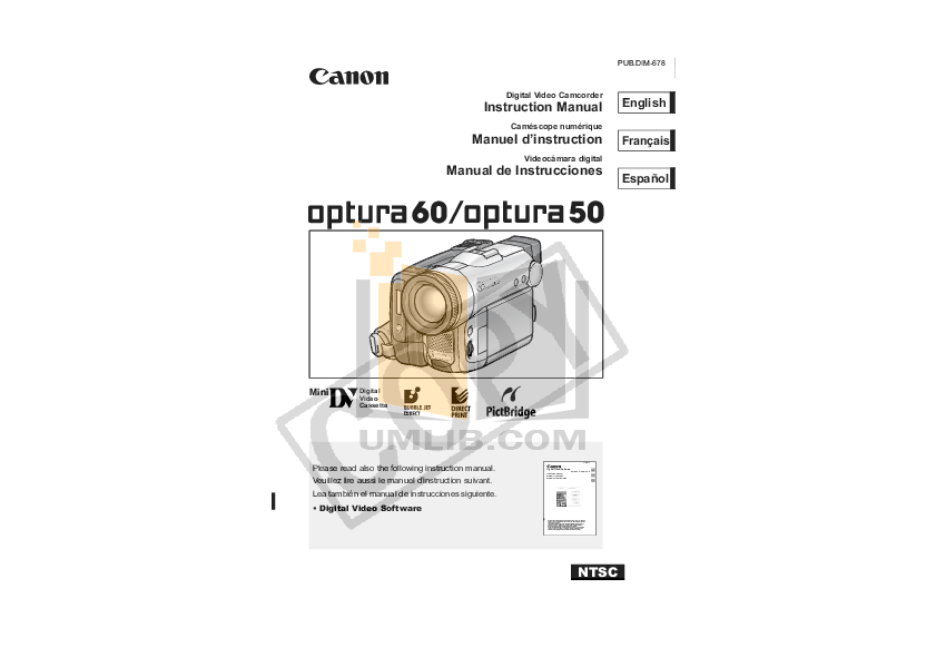 CANON OPTURA 60 MANUAL PDF