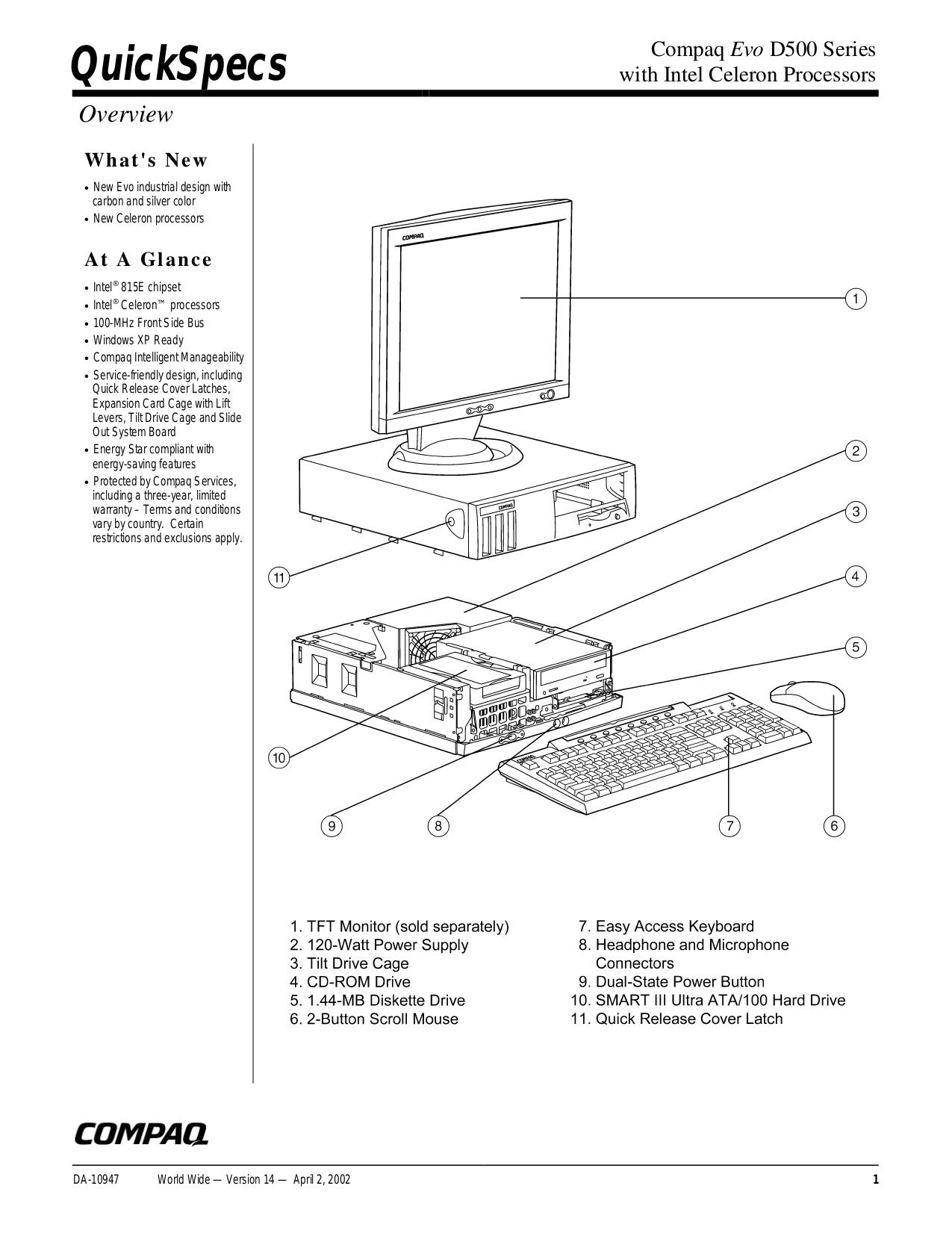 Download free pdf for HP Compaq P1220 Monitor manual
