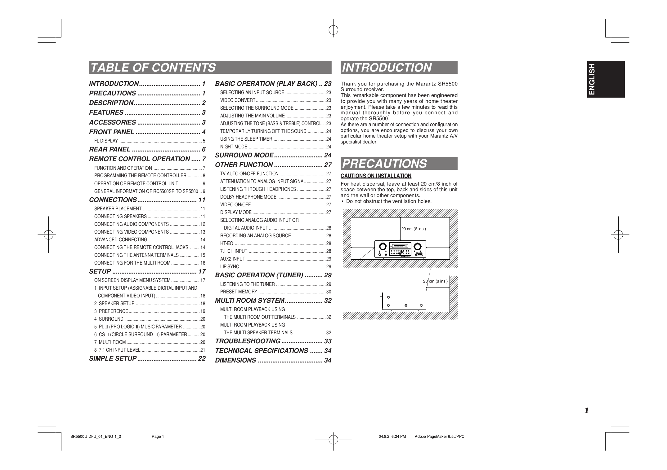 PDF manual for Onkyo CD Player DX-5500